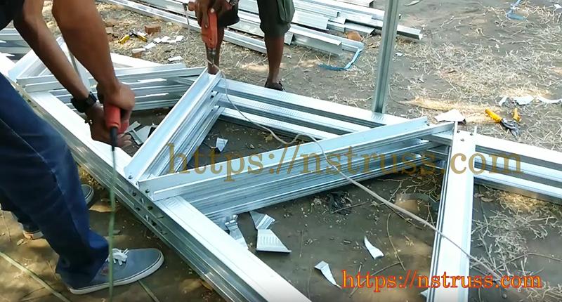 Quy trình lắp đặt Khung kèo thép mái